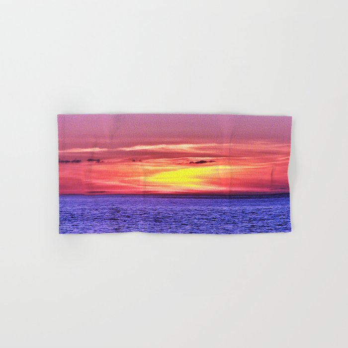 Saturated Sunset Delight Hand & Bath Towel