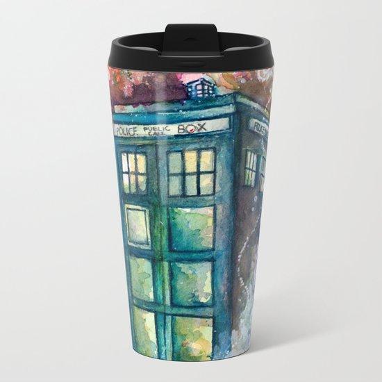 Doctor Who Tardis Metal Travel Mug