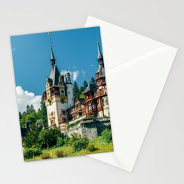 Peles Palace In Transylvania, Architecture Photography, Medieval Castle, Mountain Landscape, Romania Stationery Cards