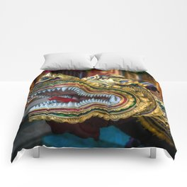 Temple Dragon Thailand Comforters