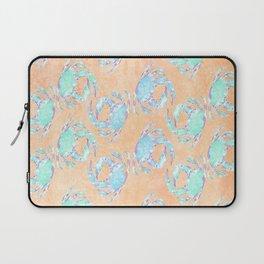 Crab orange blue nautical Laptop Sleeve