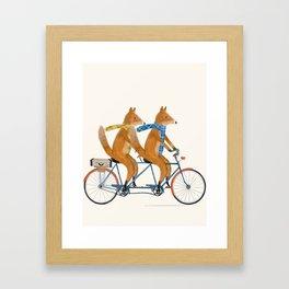 foxes lets tandem Framed Art Print