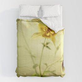 Yellow Columbines Comforters