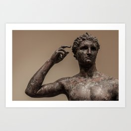 Statue of a Victorious Youth Art Print