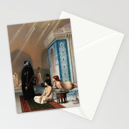 Jean-Léon Gérôme - Pool in a Harem Stationery Cards