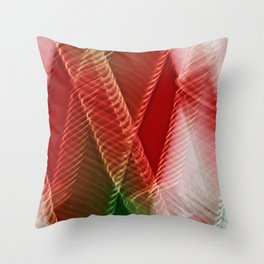Abstract Holiday Plaid Throw Pillow