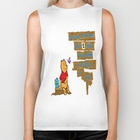 winnie the pooh Biker Tanks featuring Winnie The Pooh by LaLunaBee