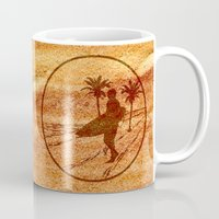 surfing Mugs featuring surfing by Paul Simms