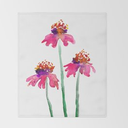 Echinacea Throw Blanket