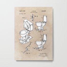 patent art Fields Toilet seat lifter 1967 Metal Print