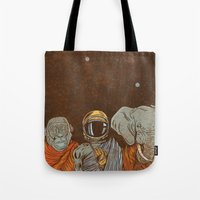 spiritual Tote Bags featuring Spiritual Animals by Thomcat23