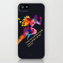 A runners and winners short life quote iPhone Case