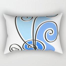blue waves lines Rectangular Pillow