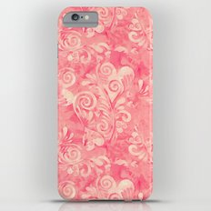 Cute watercolor pink hearts pattern Slim Case iPhone 6s Plus