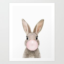 Bubble Gum Rabbit Art Print
