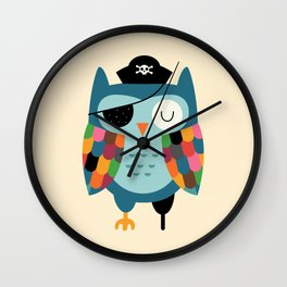 Captain Whooo Wall Clock