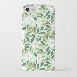 Magnolia Flower Mint iPhone Case
