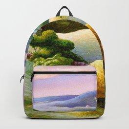 Classical Masterpiece 'Chilmark Hay' by Thomas Hart Benton Backpack