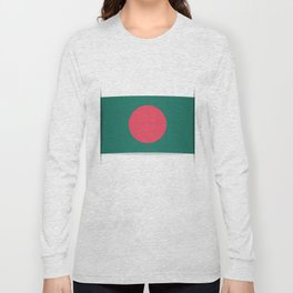 Flag of Bangladesh. The slit in the paper with shadows. Long Sleeve T-shirt