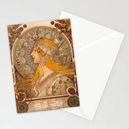 Zodiac by Alphonse Mucha, 1896 Stationery Cards