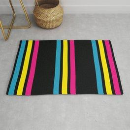 Stripes on Black Rug
