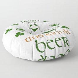 SLOTH YOGA NAMASTAY IRISH AND DRINK BEER ST PATRICK'S DAY Floor Pillow