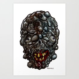 Heads of the Living Dead  Zombies: Rot Zombie Art Print