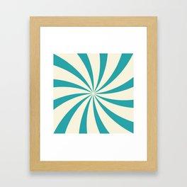 Teal Swirl Framed Art Print