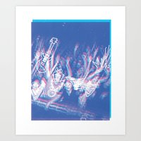 concert Art Prints featuring CONCERT by TOO MANY GRAPHIX