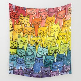 the pride cat rainbow  squad Wall Tapestry