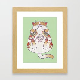 Killer Belly Rub Framed Art Print