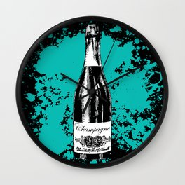 Champagne Explosion Wall Clock