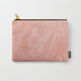 Peach Abstract Carry-All Pouch