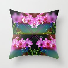 Charming Orchids Throw Pillow