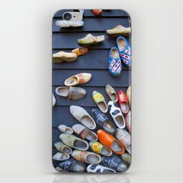 Wodden shoes iPhone Skin