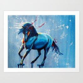 Wild Elegance - Original horse acrylic painting Art Print