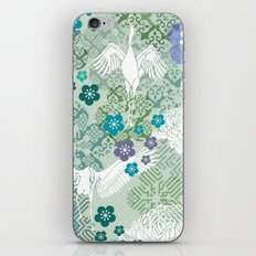 Green Crane Floral iPhone & iPod Skin