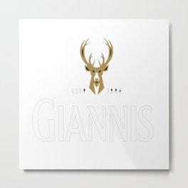 Giannis Stout Metal Print