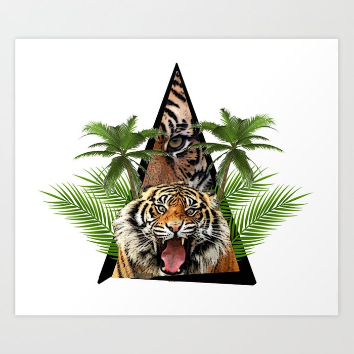 Tiger Jungle ArtWork Art Print