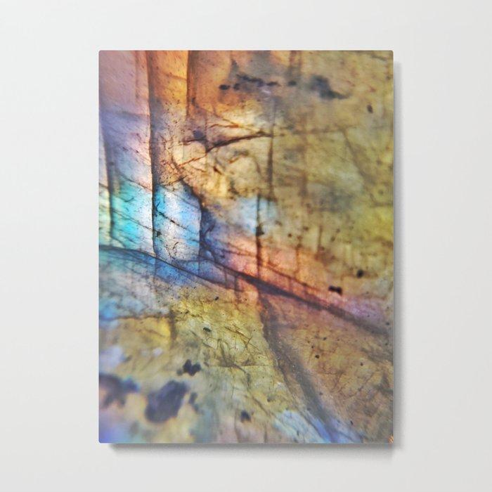 Labradorite Macro Metal Print