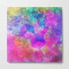 Rainbow Cubism Prism Light Metal Print