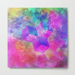 Rainbow Cubism Prism Light Metal Print