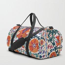 Shakhrisyabz Suzani Uzbekistan Antique Rug Duffle Bag