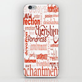What Is Love Synonyms For Love Word Cloud iPhone Skin