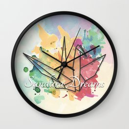 Sundara Dreams with Clouds Wall Clock