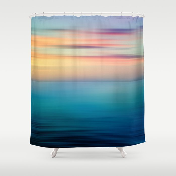 Abstract Seascape Shower Curtain