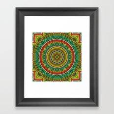 Hippie Mandala 15 Framed Art Print