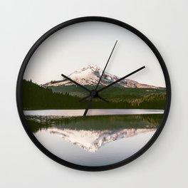 Mount Hood Reflection Wall Clock