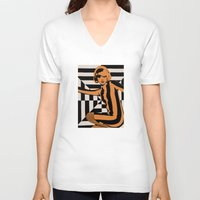 mod V-neck T-shirts featuring mod by bobbybard