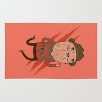 freddy krueger Area & Throw Rugs featuring Freddy by Daniel Mackey